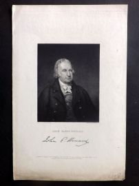 Gallery of Distinguished Americans C1835 Antique Print. John Eager Howard